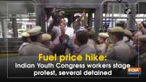 Fuel price hike: Indian Youth Congress workers stage protest, several detained