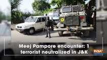Meej Pampore encounter: 1 terrorist neutralized in Jammu and Kashmir