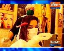 Shilpa Raizada pampers herself with hair spa