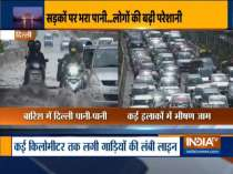 Heavy morning rain leads to waterlogging and traffic jam in parts of Delhi
