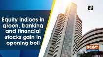 Equity indices in green, banking and financial stocks gain in opening bell