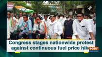Congress stages nationwide protest against continuous fuel price hike