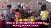Corona kit rakhis at Surat shop find preference among women buyers