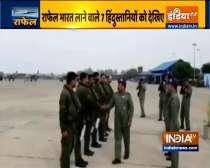Air Chief Marshal RKS Bhadauria welcomes pilots at Ambala airbase