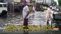 Severe water logging in parts of Dholpur, following heavy rainfall