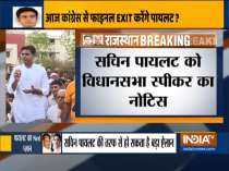 Notice issued to Sachin Pilot & 18 other party members, for not attending CLP meetings