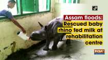 Assam floods: Rescued baby rhino fed milk at rehabilitation centre