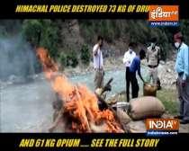 Himachal Pradesh: Police destroy large quantity of drugs in Kullu