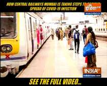 Railway authorities take serious measures to prevent coronavirus spread in Mumbai local trains