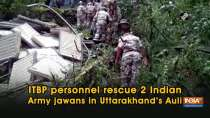 ITBP personnel rescue 2 Indian Army jawans in Uttarakhand