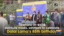 Tibetans-in-exile distribute masks, sanitizers to celebrate Dalai Lama
