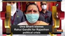 Uma Bharti blames Rahul Gandhi for Rajasthan political crisis