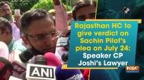 Rajasthan HC to give verdict on Sachin Pilot
