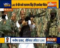 Defence Minister Rajnath Singh, CDS General Bipin Rawat and Army Chief arrive at Stakna, Leh