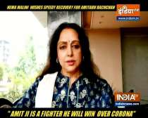 Hema Malini wishes speed recovery for Big B, Abhishek Bachchan after they test covid-19 positive