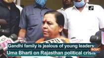 Gandhi family is jealous of young leaders: Uma Bharti on Rajasthan political crisis