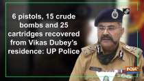 6 pistols, 15 crude bombs and 25 cartridges recovered from Vikas Dubey