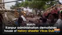 Watch: Kanpur administration demolishes house of history-sheeter Vikas Dubey