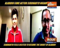 Actor Siddharth Nigam shares his feelings as shooting for Aladdin resume