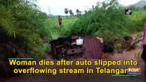 Woman dies after auto slipped into overflowing stream in Telangana