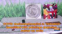 COVID dedicated hospital in Vadodara beautified with paintings depicting nature on walls