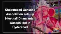 Khairatabad Ganesha Association sets up 9-feet tall Dhanvantari Ganesh idol in Hyderabad