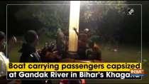 Boat carrying passengers capsized at Gandak River in Bihar
