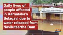 Daily lives of people affected in Karnataka