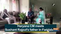 Haryana CM meets Sushant Rajput