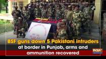BSF guns down 5 Pakistani intruders at border in Punjab, arms and ammunition recovered
