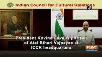 President Kovind unveils portrait of Atal Bihari Vajpayee at ICCR headquarters