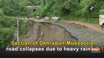 Section of Dehradun-Mussoorie road collapses due to heavy rainfall