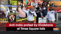 Anti-India protest by Khalistanis at Times Square fails