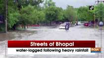 Streets of Bhopal water-logged following heavy rainfall
