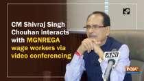 CM Shivraj Singh Chouhan interacts with MGNREGA wage workers via video conferencing