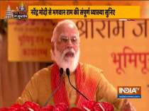 A grand temple will now be built for our Ram Lalla who had been staying in a tent, says PM Modi