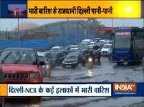 Severe waterlogging and traffic jam due to rainfall in the national capital