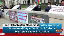 Free Balochistan Movement holds protest on International Day of Victims of Enforced Disappearances in London