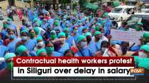 Contractual health workers protest in Siliguri over delay in salary