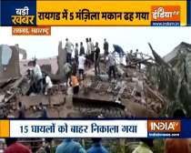 5-storey building collapses in Raigad, Maharashtra, many feared trapped