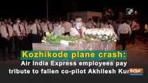 Kozhikode plane crash: Air India Express employees pay tribute to fallen co-pilot Akhilesh Kumar