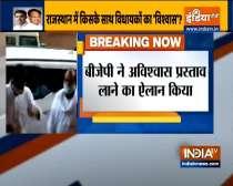 Jaipur: CM Gehlot & Sachin Pilot reach assembly amid heavy rains