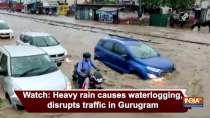 Watch: Heavy rain causes waterlogging, disrupts traffic in Gurugram