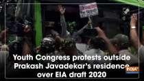 Youth Congress protests outside Prakash Javadekar
