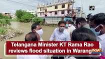 Telangana Minister KT Rama Rao reviews flood situation in Warangal