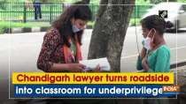 Chandigarh lawyer turns roadside into classroom for underprivileged
