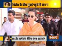 Kangana Ranaut leaves for Mumbai; Karni Sena to escort actor amid threats from Shiv Sena