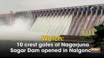 Watch: 10 crest gates of Nagarjuna Sagar Dam opened in Nalgonda
