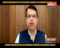 Devendra Fadnavis attacks Maharashtra govt for demolishing Kangana