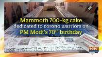 Mammoth 700-kg cake dedicated to corono warriors on PM Modi